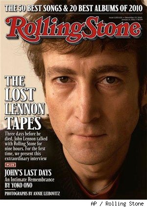 John Lennon on the cover of the Rolling Stone
