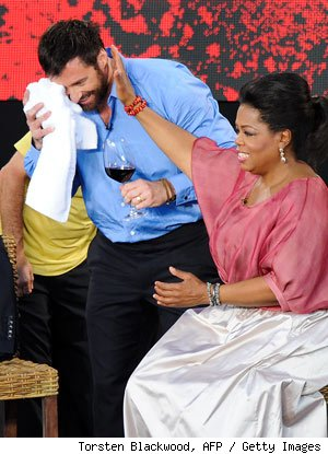 Hugh Jackman Injured in Botched 'Oprah' Stunt