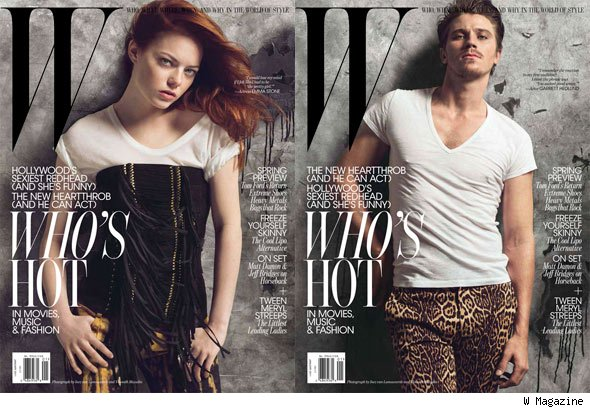 Emma Stone and Garrett Hedlund Are W's January Cover Stars