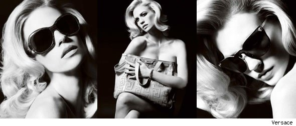 January Jones' Versace Ads