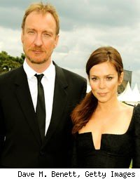 Actor David Thewlis and Anna Friel