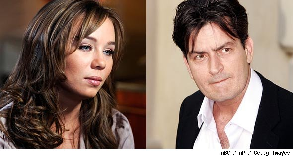 Capri Anderson and Charlie Sheen