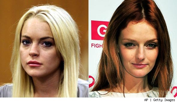 Lindsay Lohan and Lydia Hearst