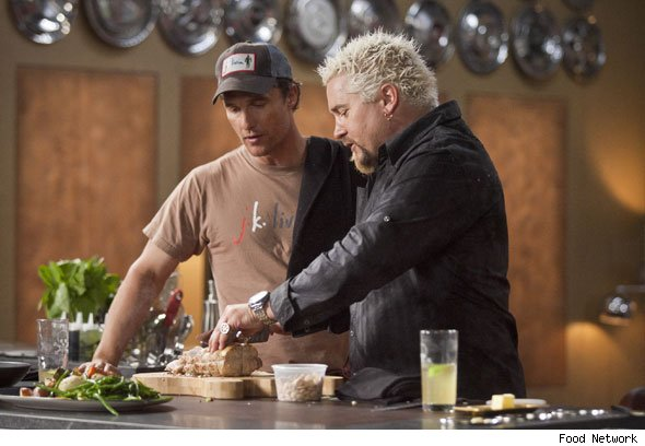 'Tis the season -- to watch Matthew McConaughey in the kitchen.