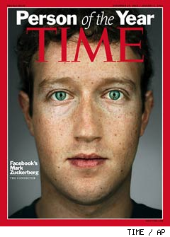 Mark Zuckerberg: TIME Magazine's Person of the Year for 2010