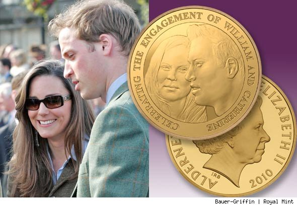Kate Middleton and Prince William Coin