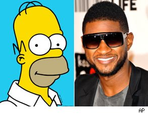 Homer Simpson and Usher