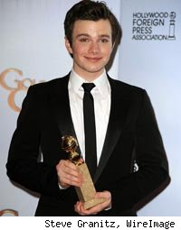 Glee Star Chris Colfer at Golden Globe Awards
