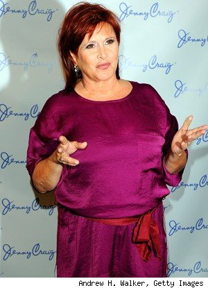 Carrie Fisher at the Jenny Craig press conference
