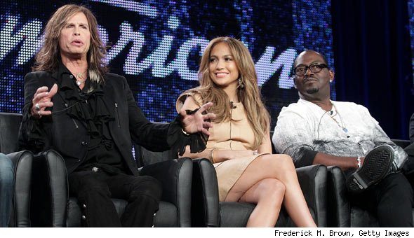 Steven Tyler, Jennifer Lopez, Randy Jackson at American Idol Panel