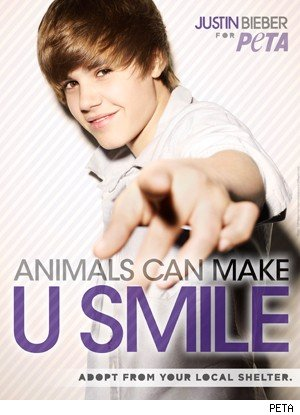 Justin Bieber PETA