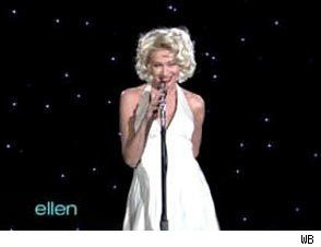 Portia de Rossi Channels Marilyn Monroe for Ellen DeGeneres' Birthday