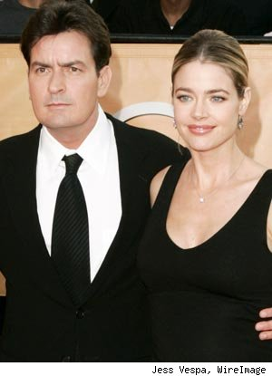 charlie sheen wife denise richards. Charlie Sheen and Denise