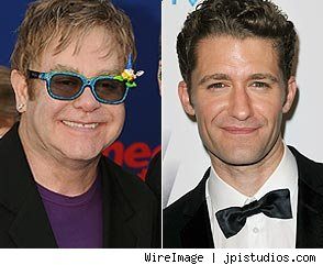 Elton John and Matthew Morrison