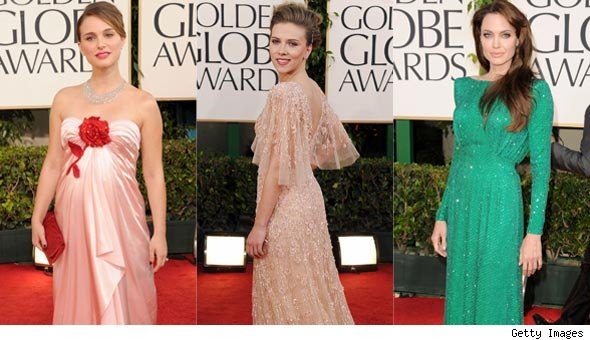 2011 Golden Globes Red Carpet Fashion Photos