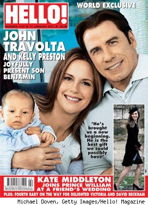 Kelly Preston, John Travolta on Hello! Magazine