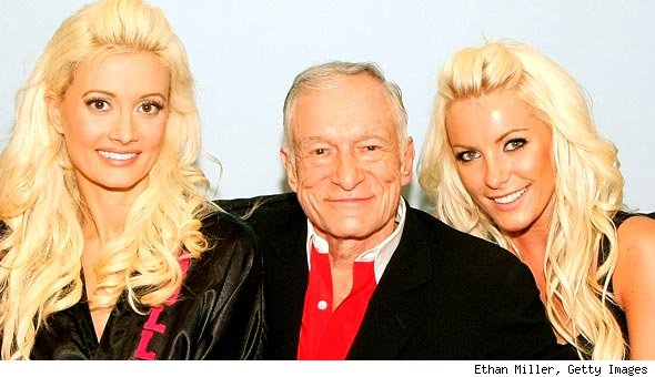 Holly Madison, Hugh Hefner and Crystal Harris