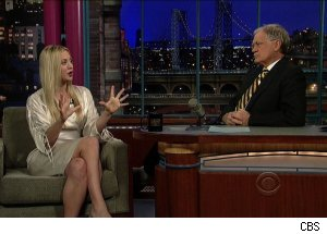 Kaley Cuoco and David Letterman