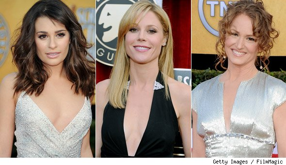 Lea Michele, Julie Bowen and Melissa Leo