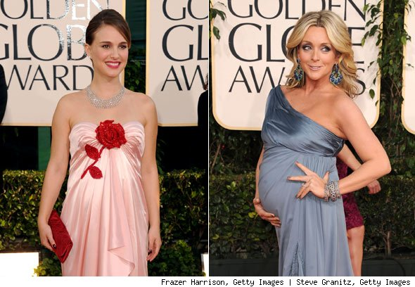 natalie portman pregnant at golden globes 2011
