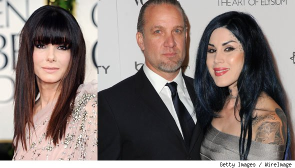Sandra Bullock, Jesse James and Kat Von D