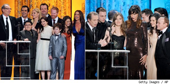 Boardwalk Empire and Modern Family Casts