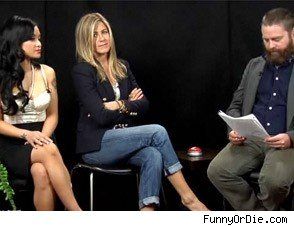 jennifer aniston between two ferns