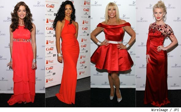 Heart Truth Red Dress Fashion Photos, Denise Richards, Camila Alves, Suzanne Somers, Julianne Hough