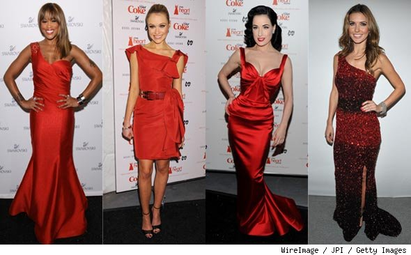 Heart Treuth Red Dress Fashion Photos: Eve, Katrina Bowden, Dita Von Teese, Audrina Patridge