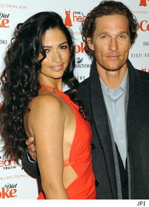 Matthew McConaughey and Camila Alves at Heart Truth Red Dress Fashion Show