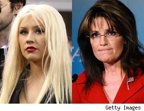 Christina Aguilera and Sarah Palin