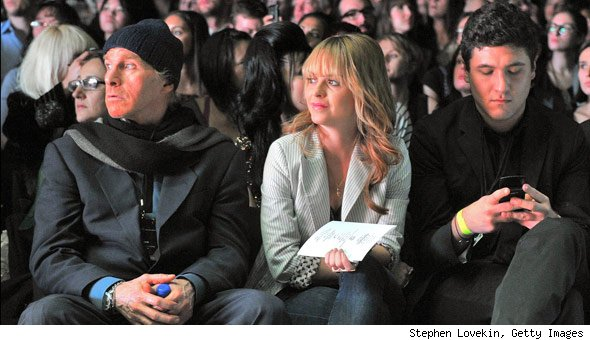 Peter Gianquinto and Taryn Manning at Gwen Stefani's fashion show