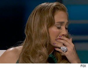 Jennifer Lopez cries after sending Chris Medina home from American Idol