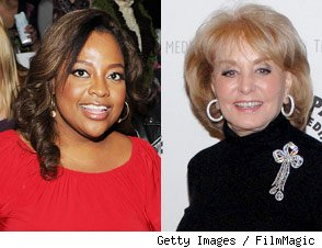 Sherri Shepherd and Barbara Walters
