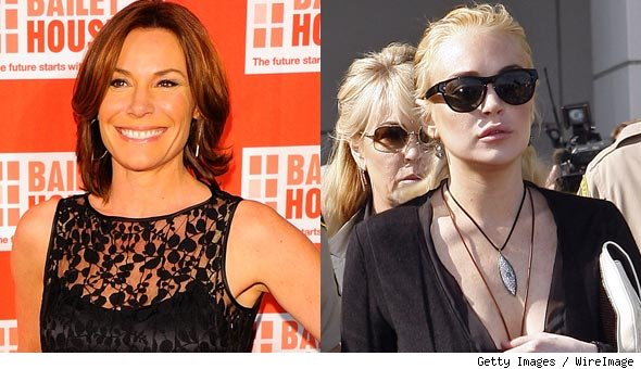 'Real Housewives of New York' star LuAnn de Lesseps and Lindsay Lohan