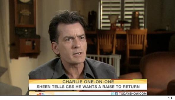 charlie sheen CBS war