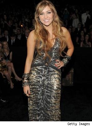 Miley Cyrus at 2011 Grammys