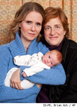 Cynthia Nixon Introduces Baby Max With Family Photo Shoot