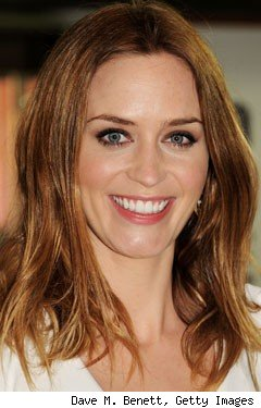 Emily Blunt's new blonde hair