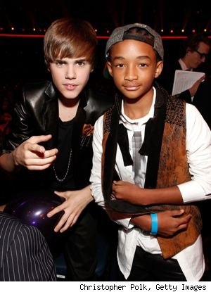 Justin Bieber, 16, has officially taken Will Smith's 12-year-old son Jaden