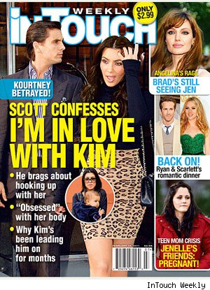 InTouch Weekly Cover of Scott Disick and Kim Kardashian