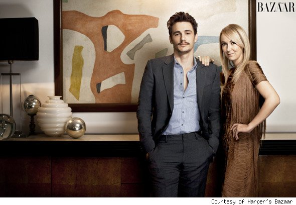 James Franco and Frida Giannini