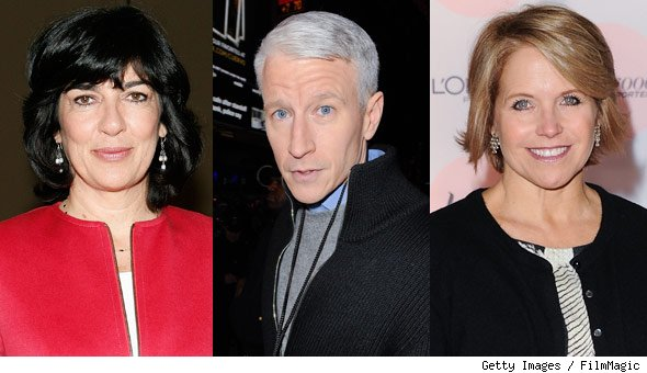 Christiane Amanpour, Katie Couric, Anderson Cooper