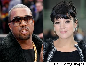 Kanye West and Lily Allen