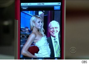 Paris Hilton and David Letterman