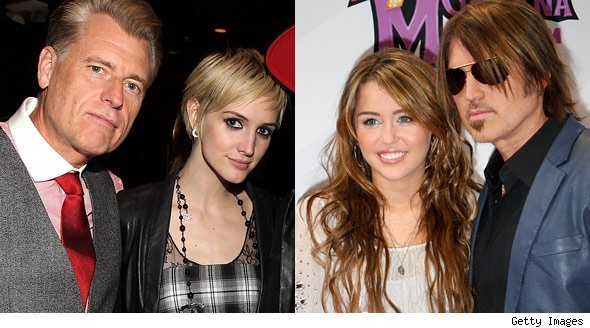 Ashlee Simpson and Miley Cyrus