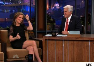 Meredith Vieira and Jay Leno