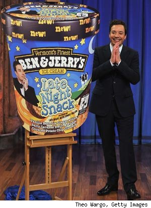 Jimmy Fallon ice cream Late Night Snack from Ben and Jerrys