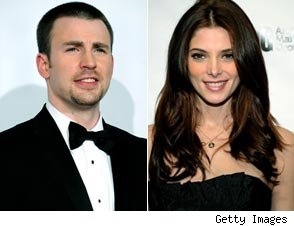 Chris Evans and Ashley Greene