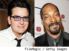 Charlie Sheen and Snoop Dogg